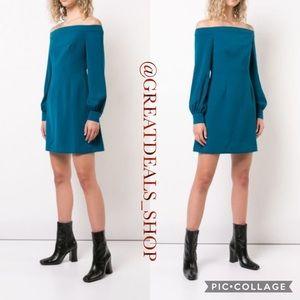 ‼️JILL STUART‼️BLUE TEAL OFF SHOULDER DRESS